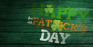 Composite image of patricks day greeting Stock Images
