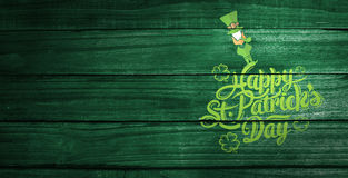 Composite image of patricks day greeting royalty free stock image
