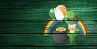 Composite image of patricks day greeting Stock Image