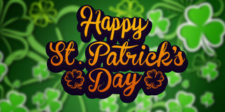 Composite image of patricks day greeting Royalty Free Stock Photo