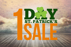 Composite image of patricks day sale ad Royalty Free Stock Photo