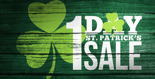 Composite image of patricks day sale ad Royalty Free Stock Image