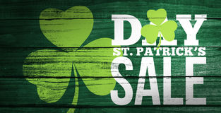 Composite image of patricks day sale ad Stock Image