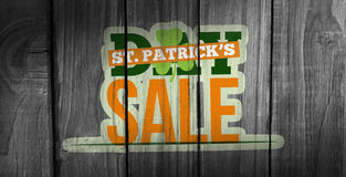Composite image of patricks day sale ad Royalty Free Stock Images
