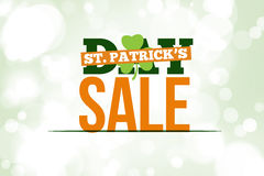 Composite image of patricks day sale ad Stock Photo