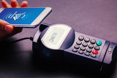 Composite image of payment screen Stock Images