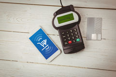 Composite image of payment screen Stock Photography