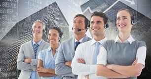 Composite image of people in a call center Stock Images
