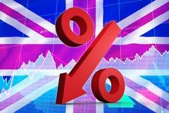 Composite image of percentage arrow Royalty Free Stock Photos