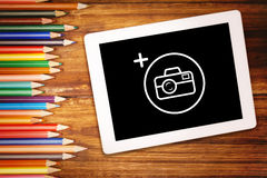 Composite image of photography apps Royalty Free Stock Photography
