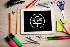 Composite image of photography apps Royalty Free Stock Photos