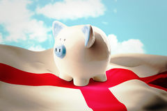 Composite image of piggy bank Royalty Free Stock Images