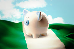 Composite image of piggy bank Royalty Free Stock Image