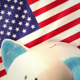 Composite image of piggy bank Stock Images