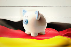 Composite image of piggy bank Royalty Free Stock Photography