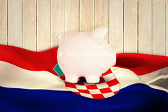 Composite image of piggy bank Royalty Free Stock Photo