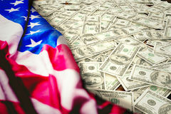 Composite image of pile of dollars Stock Image