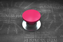Composite image of pink push button Royalty Free Stock Photo
