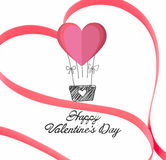 Composite image of pink ribbon shaped into heart Royalty Free Stock Images