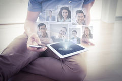 Composite image of portrait of business people Royalty Free Stock Photography