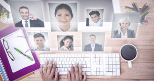 Composite image of portrait of business people Stock Image