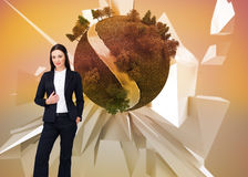 Composite image of portrait of a businesswoman standing Stock Image