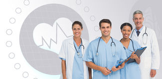 Composite image of portrait of confident medical team Royalty Free Stock Photography