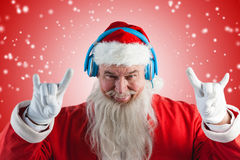 Composite image of portrait of santa claus gesturing Royalty Free Stock Image