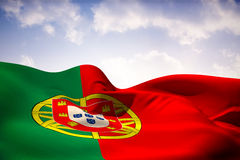 Composite image of portugal flag waving Royalty Free Stock Images