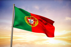 Composite image of portugal national flag Royalty Free Stock Image