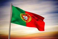 Composite image of portugal national flag Royalty Free Stock Images
