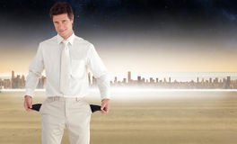 Composite image of positive businessman looking at the camera Stock Photo