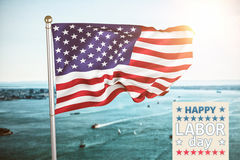 Composite image of poster of celebrate labor day text Stock Photos