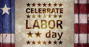 Composite image of poster of celebrate labor day text Royalty Free Stock Photography