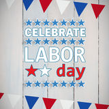 Composite image of poster of celebrate labor day text Stock Image