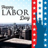 Composite image of poster of happy labor day text Stock Photography