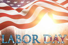 Composite image of poster of  labor day text Stock Photo