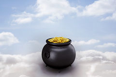 Composite image of pot of gold Royalty Free Stock Image