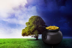 Composite image of pot of gold Stock Images