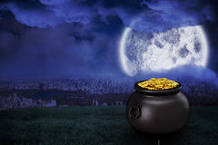 Composite image of pot of gold Stock Photos
