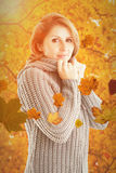 Composite image of pretty girl in jumper Stock Image