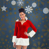 Composite image of pretty santa girl smiling at camera Stock Images