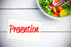 Composite image of prevention Stock Images