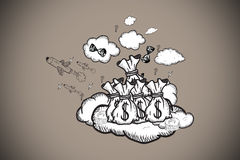 Composite image of profit doodle Stock Image