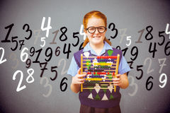 Composite image of pupil with abacus Royalty Free Stock Image