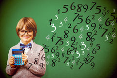 Composite image of pupil with calculator Stock Photography