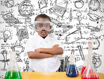 Composite image of pupil conducting science experiment Stock Photo