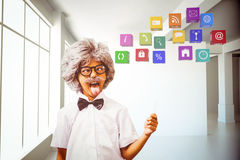 Composite image of pupil dressed up in wig Stock Images