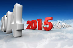 Composite image of 2015 red Stock Images