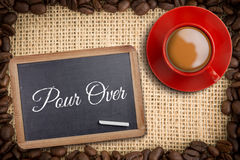 Composite image of red cup of coffee Stock Image